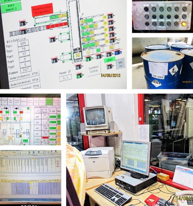 Завод USG. Система контроля