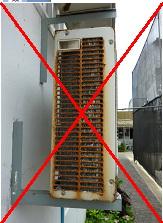 Пример кондиционера, непригодного для перевода на использование углеводородных хладагентов