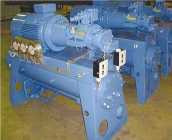 Система охлаждения оборудована тремя компактными винтовыми компрессорами Bitzer общей холодопроизводительностью 95,1 кВт при -30°С